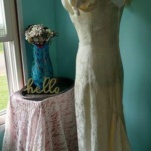 Vintage Dresses - Vintage 1980s Jessica McClintock Wedding Dress